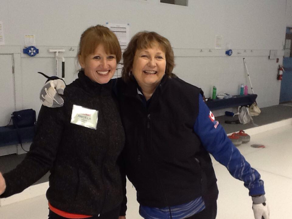 Cindy Bishop and Camper 3 - Hot Shots Curling Camp
