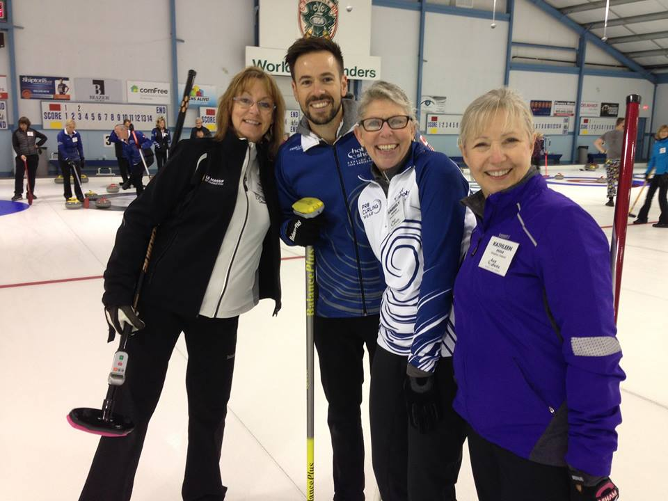 John Epping and Campers - Hot Shots Curling Camp