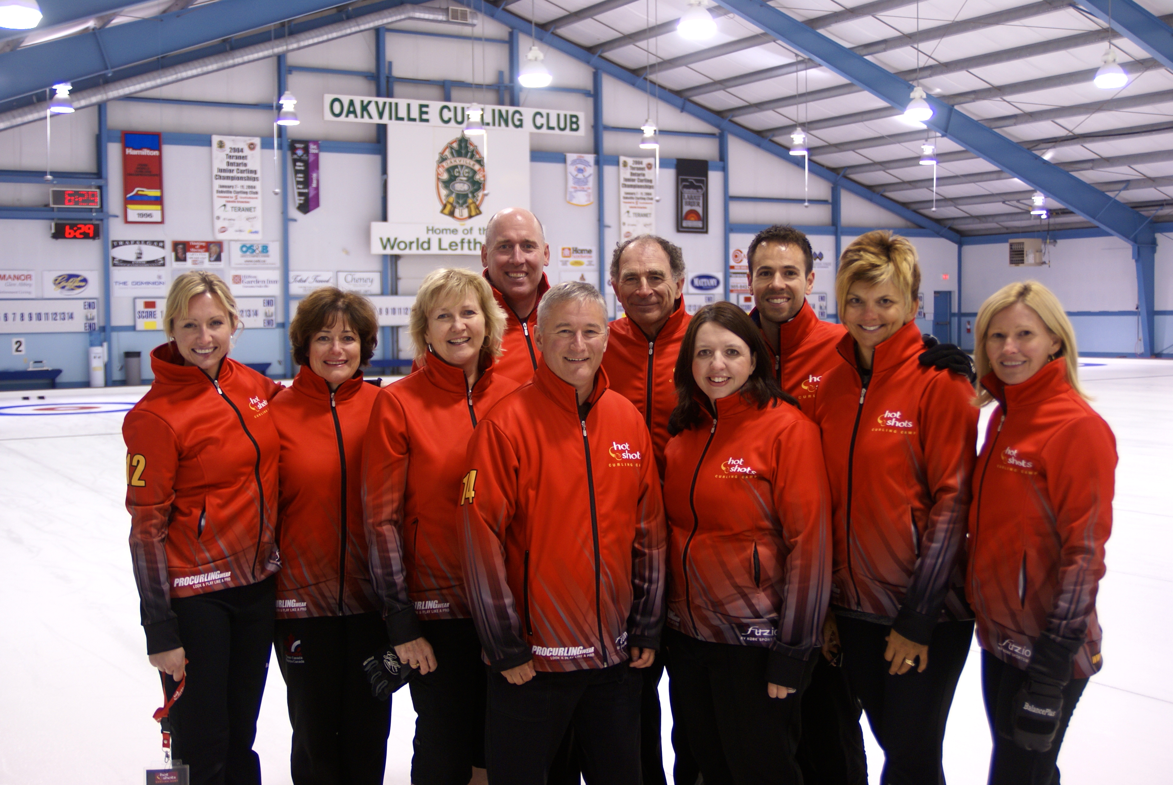 Instructors Group - Hot Shots Curling Camp