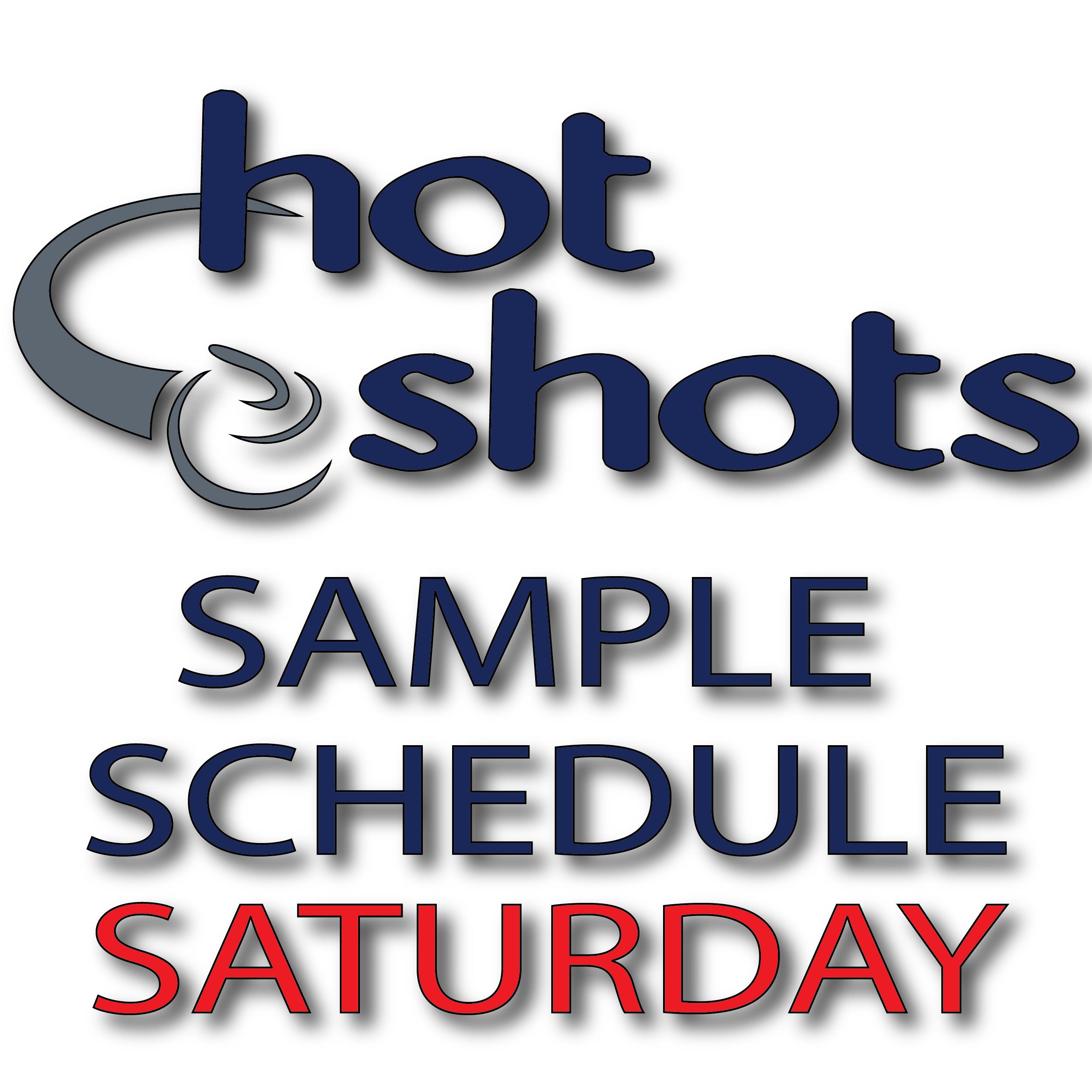 Sample Schedule Saturday - Hot Shots Curling Camp